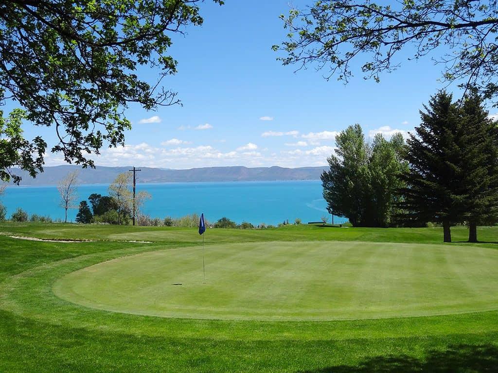 golf overlooking bear lake