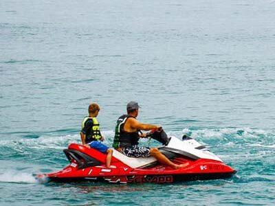 Jet skis on bear lake